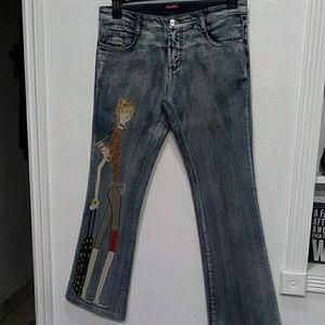 Prada designer girl jeans